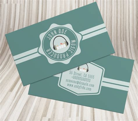Vintage Style Business Card Psd Template by Free Simple Retro Style Dj Business Card Psd Template