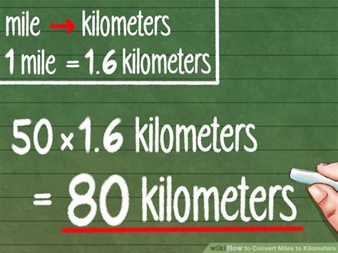 mile to km how to convert miles to kilometers 9 steps with pictures