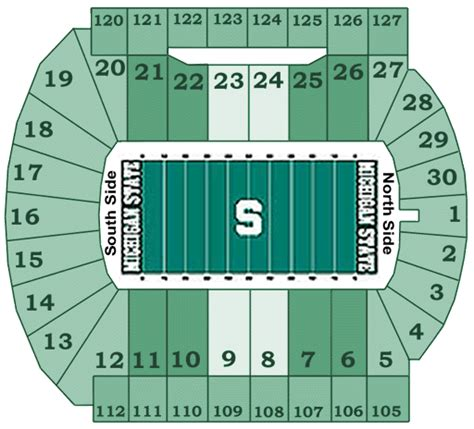 michigan state football seating chart michigan state spartans 2008 football schedule