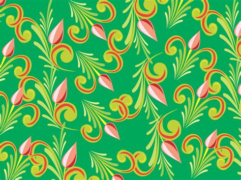 floral pattern vector corel green vector floral pattern cdr file coreldraw vectors