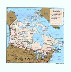 map of northeast canada