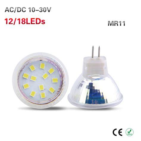 24v Led Light Bulbs 6pcs Mr11 Led Spotlight Bulb Ac Dc 12v 24v Led L Gu4 0