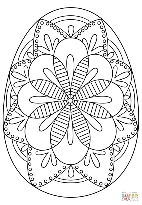 pysanky egg coloring page intricate easter egg super coloring h 250 sv 233 t pinterest