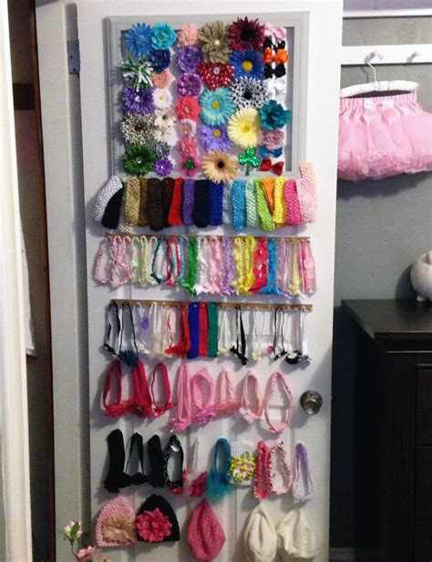 Hair Accessories Organizer Shelf by Clever Baby Hair Bow Organization Project Nursery