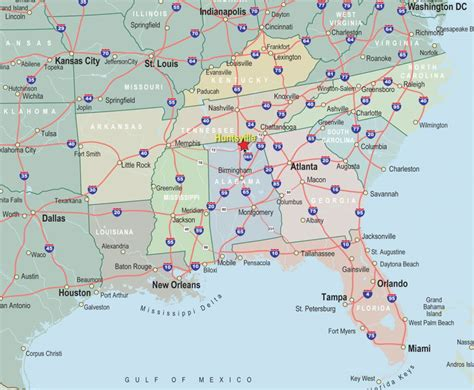 printable map of the southeast united states map of southeast region states pictures to pin on