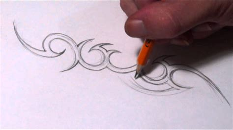 drawing a simple tribal name tattoo design youtube