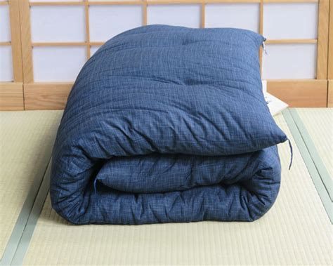 japanese futon uk double dark blue with organic cotton filling japanese futon