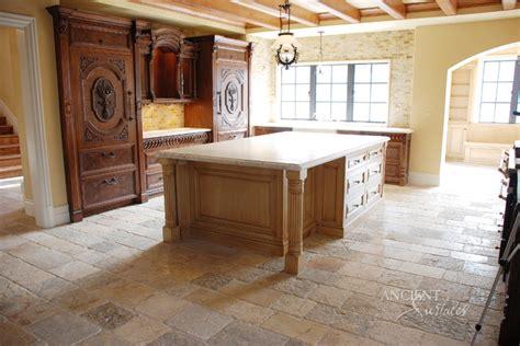 kitchen stone floors mediterranean style mediterranean