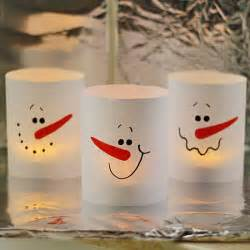 Faces And Vases Paper Snowman Luminaries In 3 Minutes Crafts By Amanda
