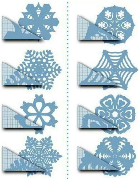 Snowflakes From Paper - paper snowflake patterns printables
