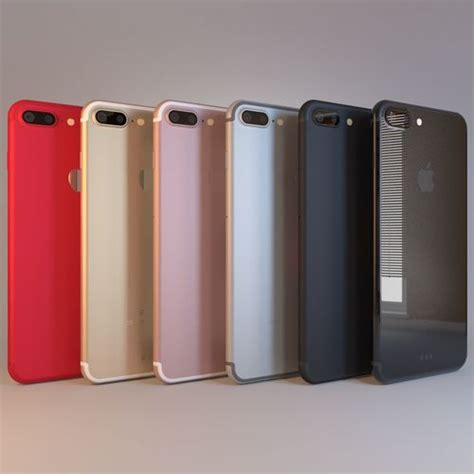 apple iphone 7 plus all 6 colors 3d cgtrader