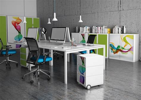 Funky Office Desks Easycabin 1m Printed Storage Office Furniture