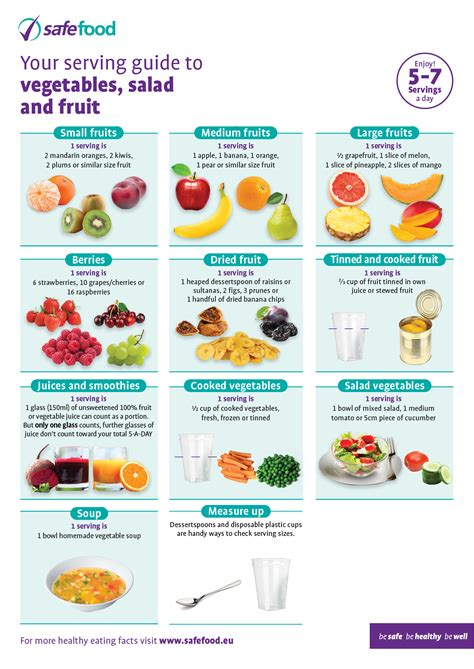 1 fruit portion food serving sizes guides