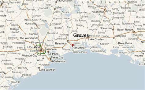groves texas map groves location guide