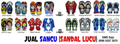 Sandal Lucu Keren Murah Sancu desain x banner sancu keren jual sandal sancu murah wa