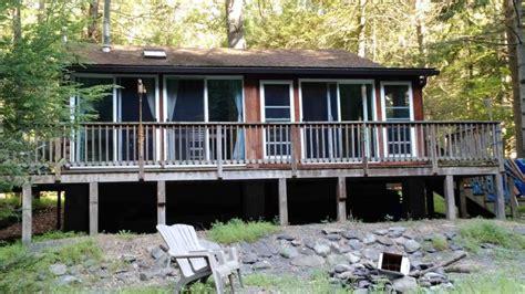 Bushkill Falls Cabins by Poconos Rentals Waterfront Bushkill Creek Cabin Sleeps 6