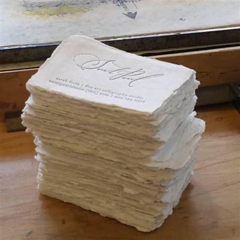 How To Make Cotton Paper - letterpress business cards blank cotton paper deckle place