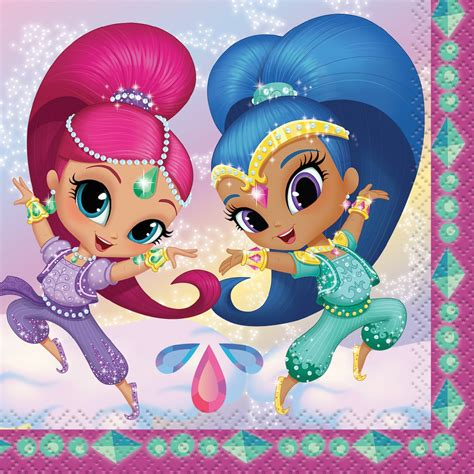 shimmer and shine l shimmer and shine party napkins shimmer and shine party