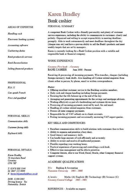 Resume Format Pdf For Banking Jobs by Curriculum Vitae Samples Curriculum Vitae Samples Doc