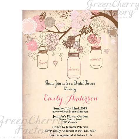 vintage invitation templates free items similar to jar invitation rustic bridal