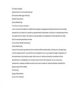 Lease Vacate Letter Template Tenancy Notice 15 Free Sles Exles Format Free Premium Templates