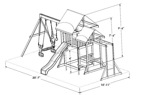 playground swing dimensions ascot climbing frame includes monkey bars swings and