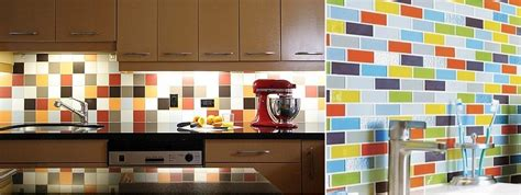 colored subway tile backsplash 50 kitchen backsplash ideas