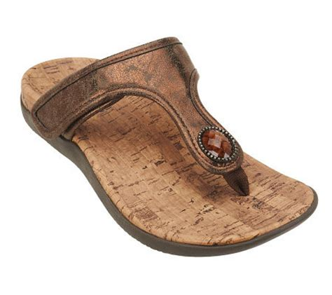 qvc orthaheel shoes vionic w orthaheel honey orthotic sandals w