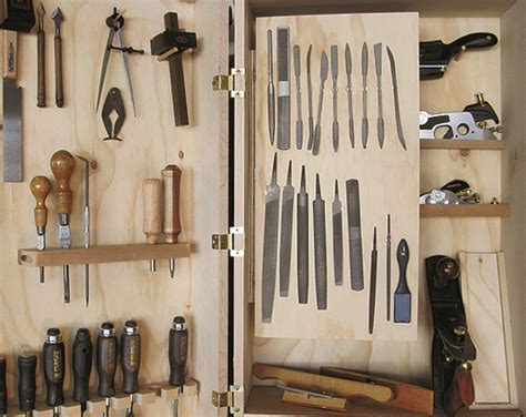 storing planes   wall mounted tool chest woodworking