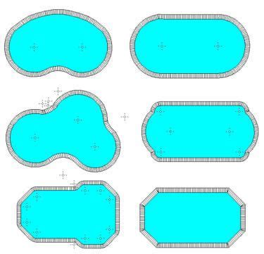 shapes of pools 1000 ideas about pool shapes on pinterest pools
