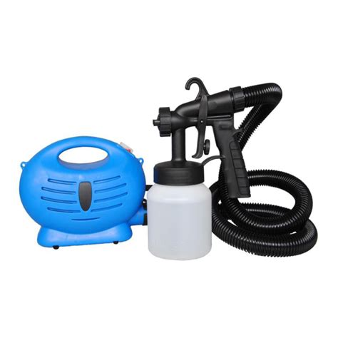 diy paint zoom electric 3 way spray gun system 800ml blue compressor painting and accessories