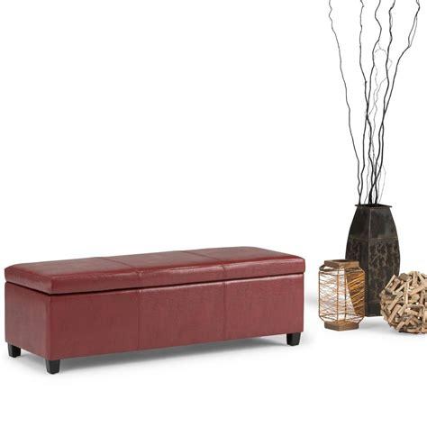 simpli home storage bench simpli home avalon red storage bench axcf18 rd the home