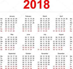 Calendario Numero Settimane 2018 2018 Calendar Template Vertical Weeks Day Monday