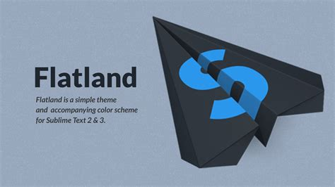 flatland theme sublime text 3 sublime text テーマを flatland theme に変更した log chocolateboard