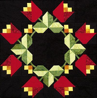 Free Tulip Quilt Block Pattern by Vintage Patterns Out Of The Darkness Membership Required Quilt Blocks