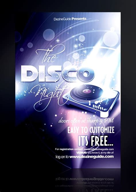 template flyer disco 60 free psd poster and flyer templates updated