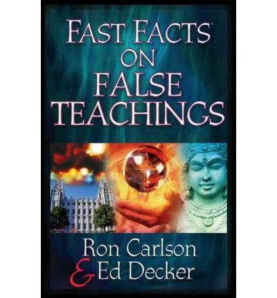 decker trivia books fast facts on false teachings carlson 9780736912143