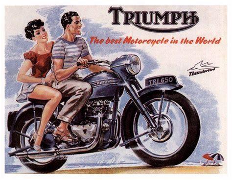 Triumph Motorrad Poster by Page De Publicit 233 Triumph Pinterest Motorcycle Art