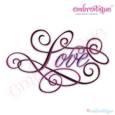 design love fest calligraphy embroitique love calligraphy script embroidery design large