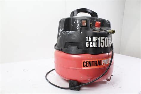 central pneumatic  air compressor property room