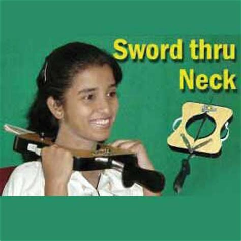 Swallowing Sword Alat Sulap Killer Sword Through Neck Sulap