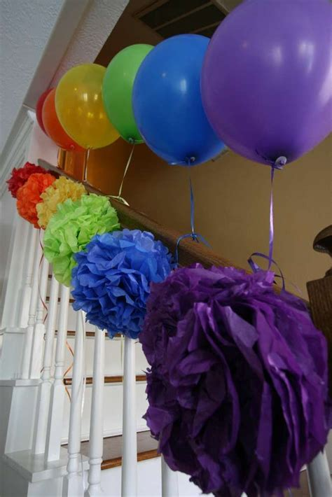 rainbow themed decorations 25 best ideas about rainbow birthday decorations on
