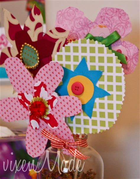 Paper Flower Bouquet Craft - paper flower bouquet family crafts