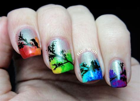 nail art bird tutorial inspiration day robin moses nail wish floral nail