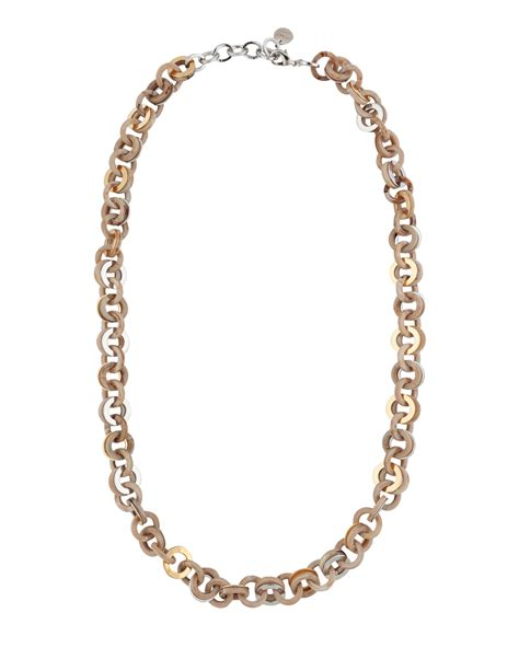 sand resin and gold small link necklace pono by joan