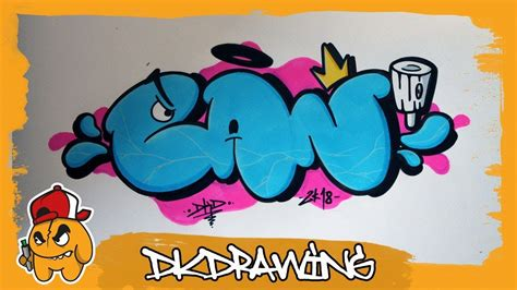 draw graffiti bubble letters  spraycan youtube