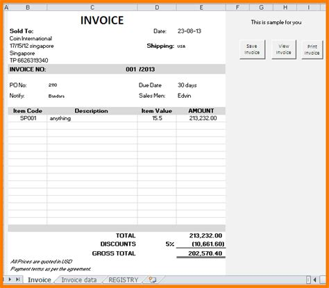 how to create a invoice template in excel how to make invoices vertola