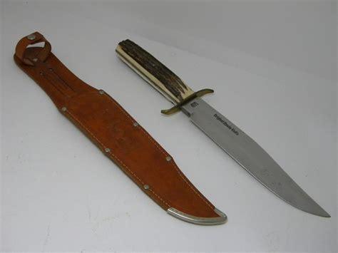 solingen kitchen knives g c co solingen germany guttmann cutlery co solingen germany stag bowie sheath knife