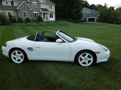 buy car manuals 2003 porsche boxster engine control find used 2003 porsche boxster roadster s convertible white with white factory wheels rare in