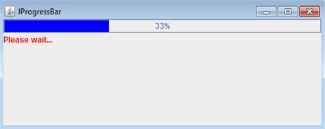 progress bar in swing java programs jprogressbar